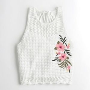 Hollister Flower Crotchet Sweater Tank